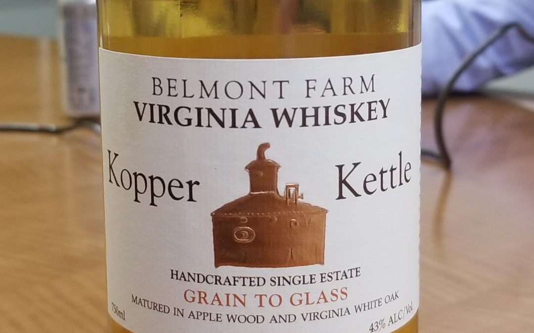 #13 Belmont Farm Kopper Kettle Virginia Whiskey
